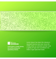 Green leaves cover vector