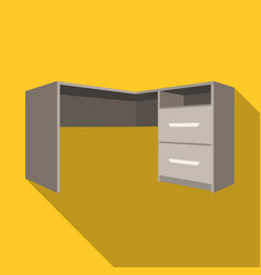 grey desk with lockersdesk for paperwork vector image