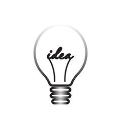 idea symbol light lamp sign icon vector image vector image