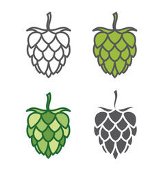 image of hops set vector image vector image