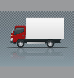 isometric cargo truck transportation on vector image