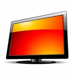 lcd panel vector image