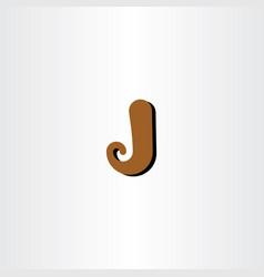 Logo letter j symbol sign vector