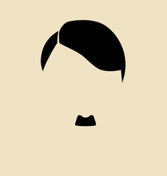 Mans hair and mustache symbol vector