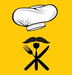 Menu design chef hat vector image