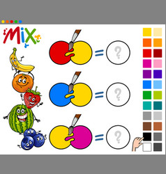 mix colors educational game vector image
