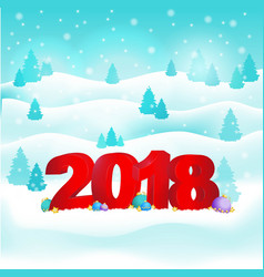 new year background with 2018 vector image vector image