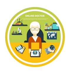 Online doctor concept vector image vector image