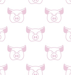 Pig seamless pattern boar head ornament pork vector