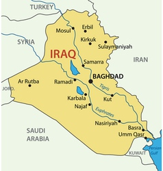 Republic of Iraq - map vector image vector image