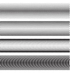 seamless halftone dots effect borders vector image vector image