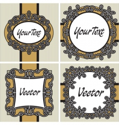 set vintage label vector image vector image