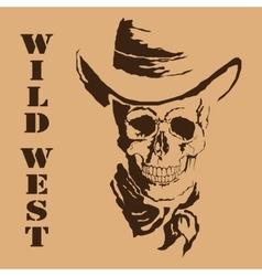 skull Wild West vector image