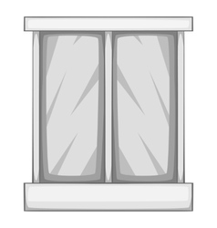 Storefront icon gray monochrome style vector
