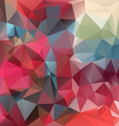Strawberry red polygonal triangular pattern vector