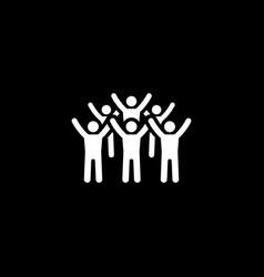 teamwork icon flat design vector image vector image