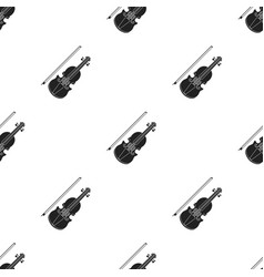 violin icon in black style isolated on white vector image