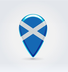Scotish icon point for map vector