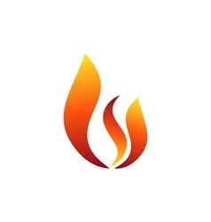 Fire flame logo hot fire symbol icon design sign vector