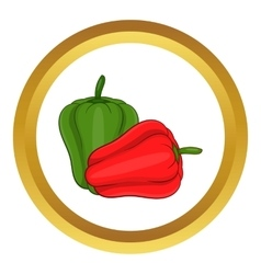 Paprika icon vector