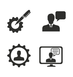 Management consulting icon set vector