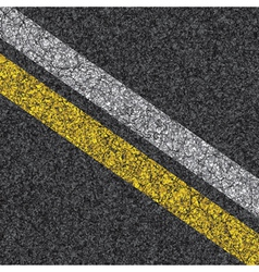 stripes on asphalt vector image