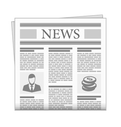 Folded newspaper news with articles vector