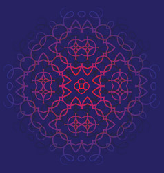 background with pattern of mandala blue and red vector image