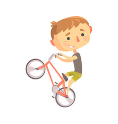 Boy bike rider kids future dream professional vector