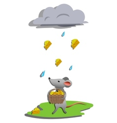 Rain for mouse vector