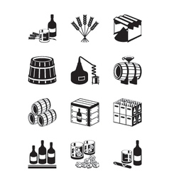 Production of whiskey and brandy vector image