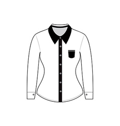 Blank shirt with long sleeves template vector