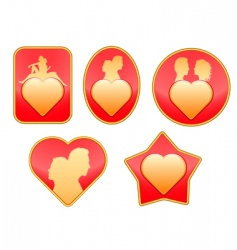set of love signs vector image
