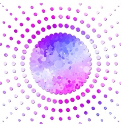 Abstraction radial background vector