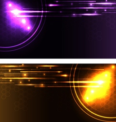 stylized glowing backgrounds in wide-screen format vector image