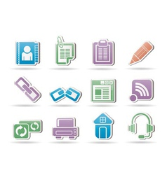 Internet and website objects vector