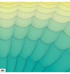 Wavy grid background mosaic vector