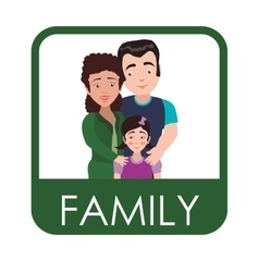 Family and roles design vector