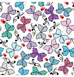 floral valentine pattern vector image