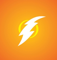 Thunder bolt sign logotype vector