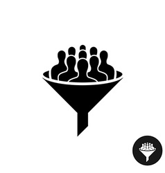 Crowdfunding icon crowd of people silhouette with vector