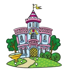 Fairy palace in the beautiful park vector
