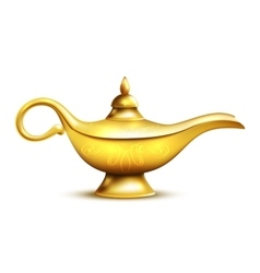 Aladdin Lamp Isolated Icon vector image