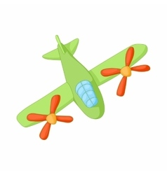Airplane with two propeller engines icon vector