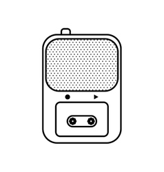 Recorder icon broadcasting design graphic vector