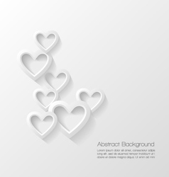 Abstract valentine day background vector image vector image