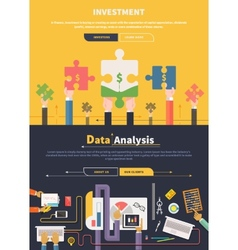 Analyzing and investment concept vector