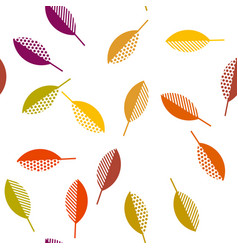 autumn leaves abstract vector image vector image