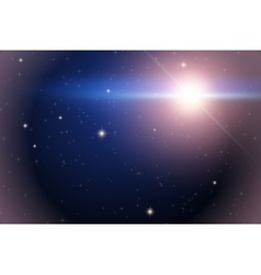 Background of space with bright star vector