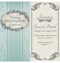 Baroque wedding invitation brown vector